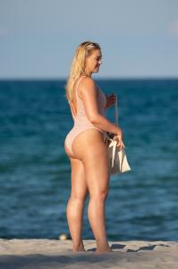 Iskra Lawrence - More Miami Beach Shots In A Swimsuit (7/14/18)