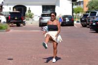 Nia Long playing ball in a parking lot in Malibu 07/16/201875805372_75768193_nia-long_16072018p_06
