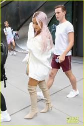 Ariana Grande - Lavender Hair - Out in NYC - July 18 2018 * HQ'ish ADDS*