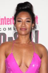 Candice Patton - Sexy In Pink At Entertainment Weekly Party at Comic Con in San Diego (7/21/18)