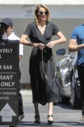 Amber Heard - Out for lunch in Beverly Hills 7/24/18