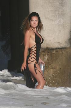 Kaili Thorne on the set of a 138 Water photoshoot in Malibu 7/30/18h6qrkalkel.jpg
