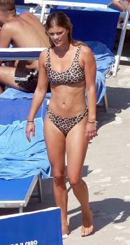 Nina Agdal in a bikini on holiday in Capri 7/31/18