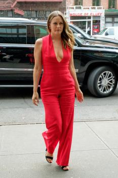 Alicia Silverstone - Shows Off Nice Cleavage Out In NYC (7/31/18)