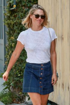 Ali Larter - Leggy In A Denim Skirt Out in West Hollywood (8/2/18)