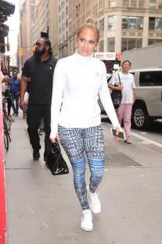 Jennifer Lopez - Arriving In Workout Gear At Ripley-Grier Studios in NYC (8/2/18)